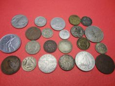 22 piece Assorted countries Foreign World Coins Money Currency 1906-1970 find me at www.dandeepop.com