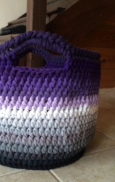 tee shirt yarn basket