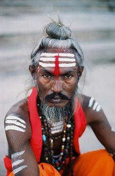 """quietbystander: """" Sadhu with fierce eyes by borgan on Flickr. """""""