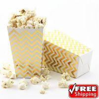 36 stücke Metallischen Goldfolie Chevron Mini Popcorn Boxen-Hochzeit Weihnachten…