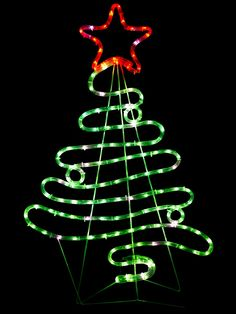 10 spiral alternative christmas trees spiral rope light share flowing ribbon style christmas tree led rope light silhouette 90cm aloadofball Gallery