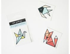 Cute party favor: New origami tattoos from Wee Gallery