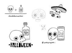 """Skulls"" - Special commission for Halloween by Alejandra Morenilla, via Behance"