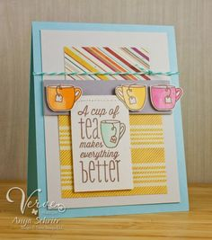 Created by Anya Schrier using the One Cup stamp set from Verve Stamps.