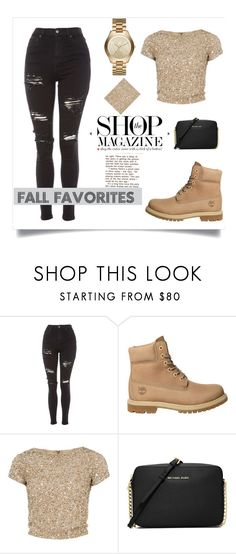 """""""The Fall Favorites"""" by bowkam on Polyvore featuring Topshop, Timberland, Alice + Olivia, MICHAEL Michael Kors and Michael Kors"""
