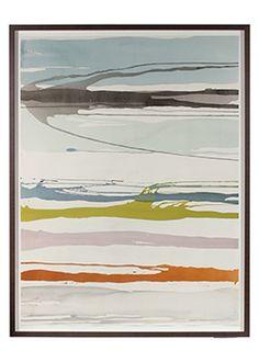 "91343- Rob Delamater, 2016, Gouache on Paper, 36""x47"" Framed"