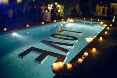 Decoracion de piscina para bodas.
