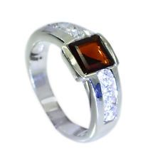 slightly Garnet Silver Red Ring supplies L-1in US 5678