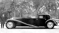 21 feet....6 made only 3 ever sold...($30k 1932).....31 Buggati
