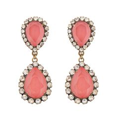 Abba Earrings in Coral