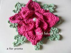 Star flower in crochet , Alkimia: PAP FLOWER DOUBLE STAR