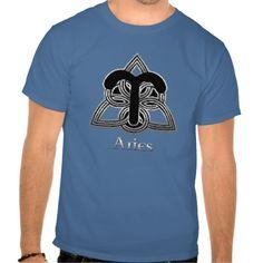 Aries Birth Sign Celtic Knot Zodiac T-Shirt