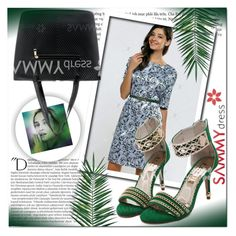 """GREEN"" by mini-kitty ❤ liked on Polyvore featuring Balmain and Nika"