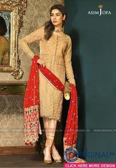 Items similar to Asim Jofa Luxury Chiffon collection, shalwar kameez, pakistani clothes, indian outfits, bengali dresses on Etsy Pakistani Fancy Dresses, Fancy Wedding Dresses, Pakistani Bridal Wear, Eid Dresses, Pakistani Suits, Punjabi Suits, Bridal Dresses, Ladies Suits Indian, Suits For Women