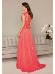 367bcb5945380 Evening Gowns and Mother of the Bride Dresses by Morilee. Chiffon Dress  with Beaded Cordinelli Embroidery Evening Gown
