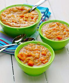 Chef AJ's Sweet Potato and Yellow Split Pea Soup