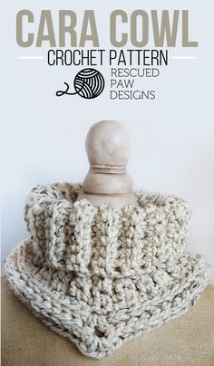 Cara Cowl || FREE Crochet Pattern by Rescued Paw Designs #crochet #diy #lionbrand