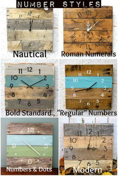 Pallet Wood Clock Rustic ReClAiMeD Beach House von terrafirma79
