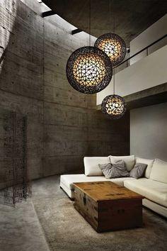 Lámparas colgantes para acentuar la decoración