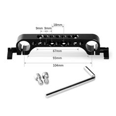 """SMALLRIG 19mm Rod Clamp SR-1873 attaches to 19mm rods to provide abundance of 1/4"""" -20 and 3/8"""" -16 threads for camera accessories. It can be used with any ARRI"""