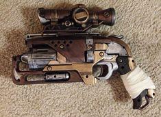 Steampunk Nerf Gun Hammershot Revolver Pistol with by AshersKnacks