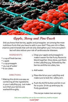 How about a fruit crush, anyone? Here's a delicious recipe you should try at home! Enjoy!