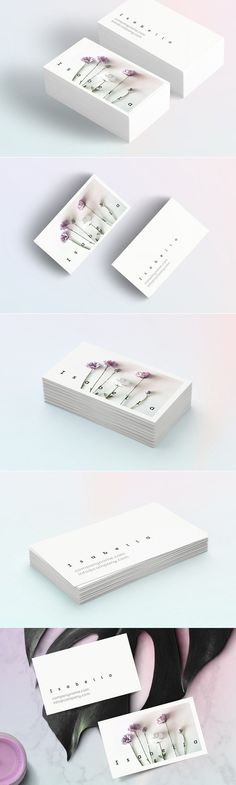 Isabella-floral business card - Business Cards - 1