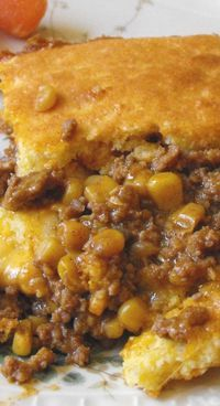 Cooking From the Pantry--Taco Tamale Pie Gourmet Recipes, Mexican Food Recipes, Cooking Recipes, Mexican Desserts, Freezer Recipes, Freezer Cooking, Drink Recipes, Hamburger Meat Recipes Easy, Cooking Tips