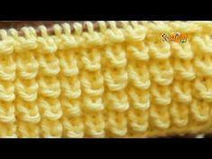 Cómo Tejer Punto para OTOÑO / INVIERNO - 2 agujas (504) - YouTube Baby Knitting Patterns, Knitting Charts, Knitting Stitches, Stitch Patterns, Crochet Patterns, Crochet Hooded Scarf, Knit Crochet, Knitting Videos, Loom Knitting