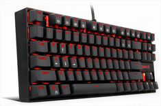 Mechanical keyboards are in general, much better in terms of quality compared to standard membrane PC keyboards. They provide better tactile feedback when Gaming Desk Setup, Used Aircraft, Buy Computer, Red Led, Electronic Devices, Computer Keyboard, Graphic Design