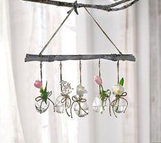 "Deko-Hänger ""Small Vases"", 6tlg. Decor Crafts, Wood Crafts, Diy And Crafts, Diy Garden Projects, Projects To Try, Origami Wedding, Valentines Day For Him, Branch Decor, Ideias Diy"