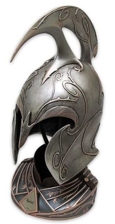 The Hobbit Rivendell Elf Helmet Tolkien, Elf Armor, United Cutlery, Shoulder Armor, Desolation Of Smaug, High Elf, Medieval World, Black Panther Marvel, Elvish