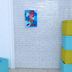 The canvas of the rabbit by Decoludik on Etsy Nursery Canvas, My Canvas, Nursery Wall Art, Canvas Prints, Art Prints, Bunny Art, Art Wall Kids, Easter Bunny, Cotton Canvas