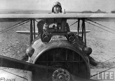 rare WW! picture American ace 1st Lt. Eddie Rickenbacker, 94th Aero Squadron, with 26 kills posing with his Spad plane during WWI. Rembercourt, France. 18 October 1918
