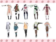 Naruto Outfit Adoptables CLOSED by zombie-adoptables