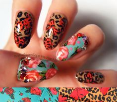 Betsey Johnson Inspired Manicure...these are too cute I want my nails like this