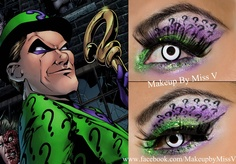 BEAUTY & MAKEUP - GEEK - The Riddler from Batman comic. Sugarpill Cosmetics, NYX Cosmetics and MAC Cosmetics