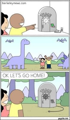 time machine pictures and jokes / funny pictures & best jokes: comics, images, video, humor, gif animation - i lol'd Dark Humor Comics, Dark Comics, Fun Comics, Friday Funny Pictures, Funny Picture Quotes, Funny Friday, Funny Cartoons, Funny Jokes, Hilarious
