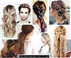17. mai inspo: Hår Party Hairstyles, Hair Makeup, Braids, Hair Beauty, Dreadlocks, Make Up, Hair Styles, Blondes, Freeze