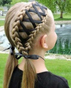 Braids with ribbon