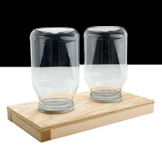 Double Jar Feeder for Bee Hive