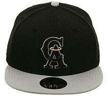 competitive price 1c8da 66a71 New Era 2Tone Los Angeles Angels CA Fitted Hat - Black, Gray, Metallic  Gold.  34.99