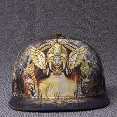 2017 Brands 3D Color Printing Buddha Men Women Hat Hats Baseball Cap Fashion  trends Hip Hop Snapback Caps bone free shipping a75d48f59e9b