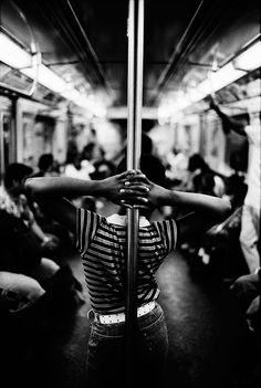 on a train. photo by Joseph Michael Lopez - A-Train, Harlem, New York City, Black And White City, Black And White Pictures, Urban Photography, Street Photography, Minimalist Photography, Travel Photography, Urbane Fotografie, Harlem New York, Black White
