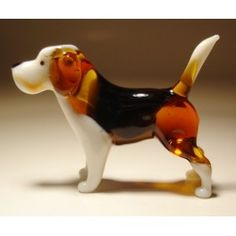 Glass Dog Beagle $19.95 http://www.glasslilies.com/296-glass-dog-beagle.html #Glass #Dog #Beagle #Gifts #GlassArt #Figurine #BlownGlass #Pets #Animals