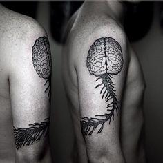 15 Genius Brain Tattoos | Tattoodo.com