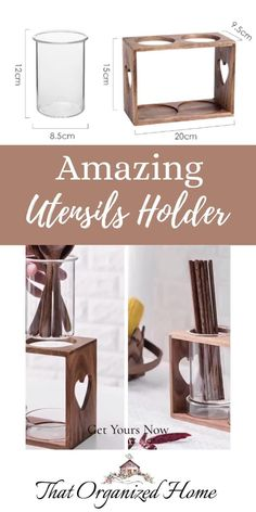 This elegant wooden utensils holder is just perfect for storing cooking utensils, forks, knives, spatulas, ladles, spoons, tongs, chopsticks, cooking tool and more.Your kitchen is not going to be dull any more.#kitchengadgets #thatorganizedhome #kitchenutensils #utensilsholder Dollar Tree Christmas, Christmas Tree Themes, Cooking Utensils, Cooking Tools, Wooden Utensil Holder, Essential Kitchen Tools, Kitchen Pantry Design, Kitchen Tools And Gadgets, Mom Tattoos