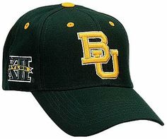 Baylor Bears Adult Adjustable Hat ,Hunter Green by Top of the World. $15.99. Velcro backstrap closure. Primary 3D logo on the front. Team color adjustable wool hat. Team name on the backstrap. Conference mark on the side. NCAA Baylor Bears Adult Adjustable Hat