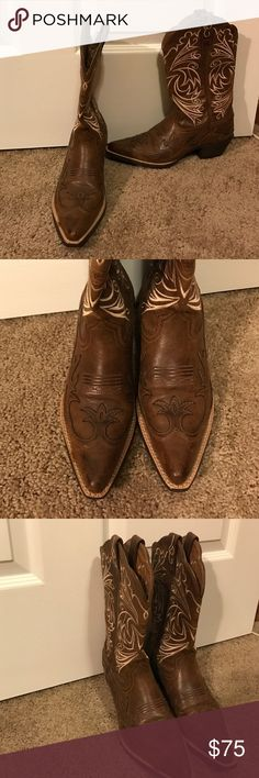 ARIAT Women's Boots - Size 6 / Mint Condition ARIAT women's cowboy boots, size 6 / worn only twice! They look brand new! Ariat Shoes Heeled Boots
