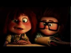 "Scene from ""UP"" where young Ellie and Carl meet and Carl crosses his heart for ""The Adventure Up There! Walt Disney, Disney Up, Disney Pixar, Disney Magic, Heart Touching Story, Touching Stories, Ed Sheeran, Up Carl Y Ellie, Adrian Romero"